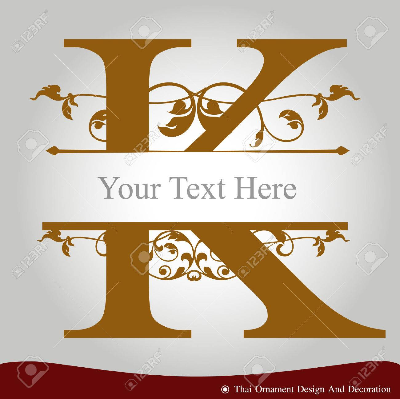 Vector Of Letter K In The Old Vintage Style Abc Concept Type