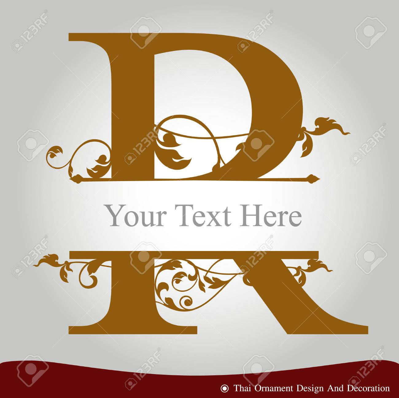 Vector Of Letter R In The Old Vintage Style Abc Concept Type