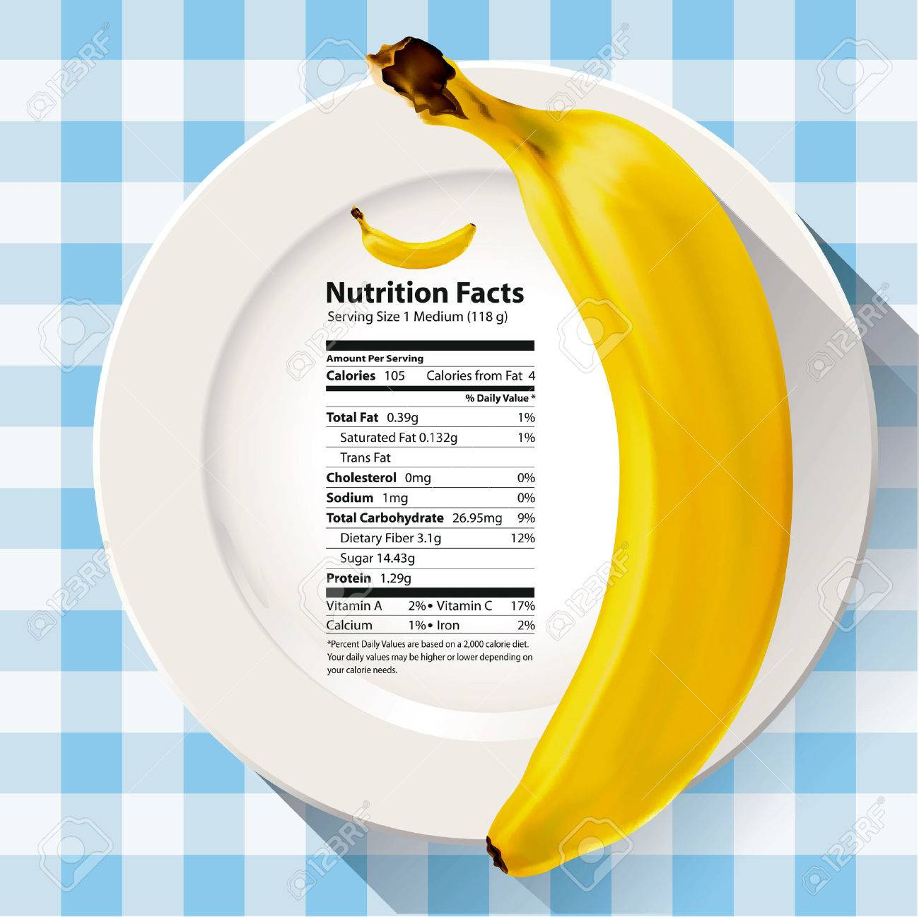 vector of nutrition facts banana royalty free cliparts, vectors, and