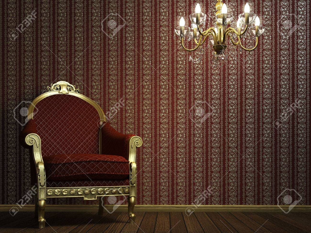 interior scene with classic armchair and lamp Stock Photo - 4182898