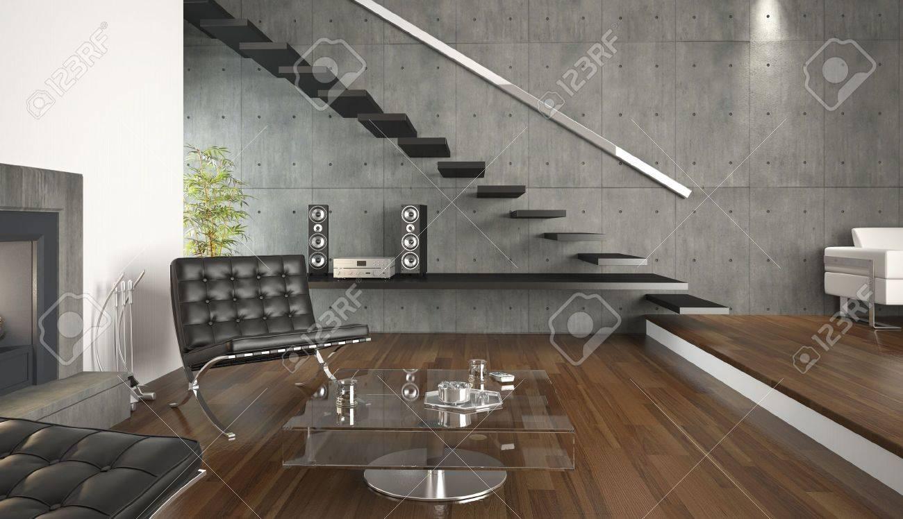 Interior Design de l\'architecture moderne salle de séjour. Il s\'agit d\'un  3d render aucune release modèle nécessaires