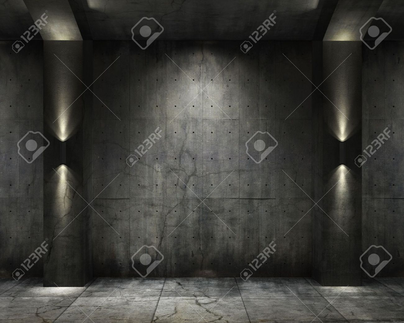 Dark bedroom background dark spotlight room background - Dark Room Grunge Background Of An Interior Concrete Vault With Interesting Spot Lighting Stock Photo