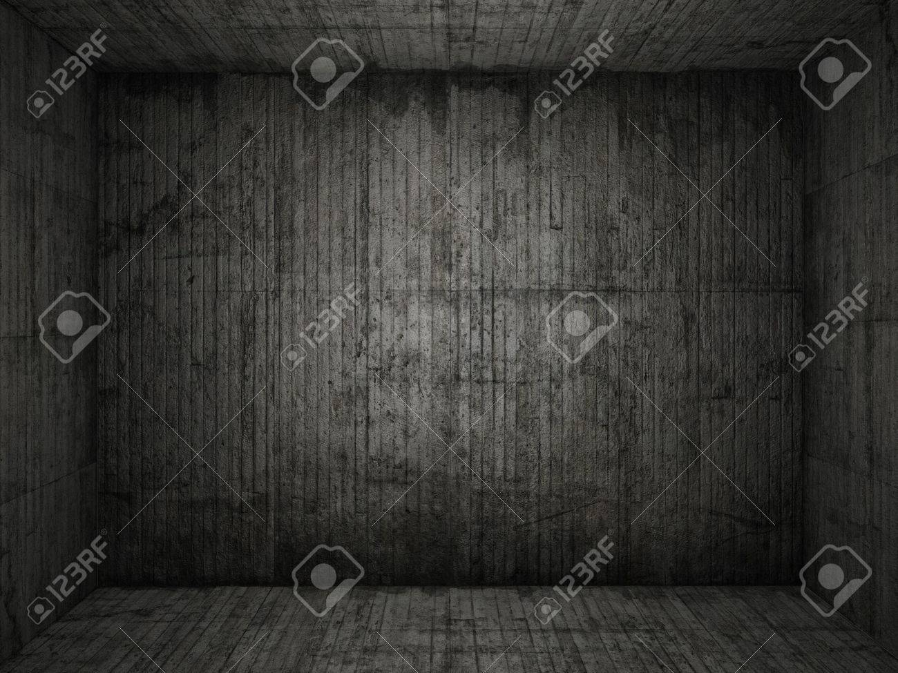 Very grungy and dark concrete room for use as background Stock Photo - 6356095