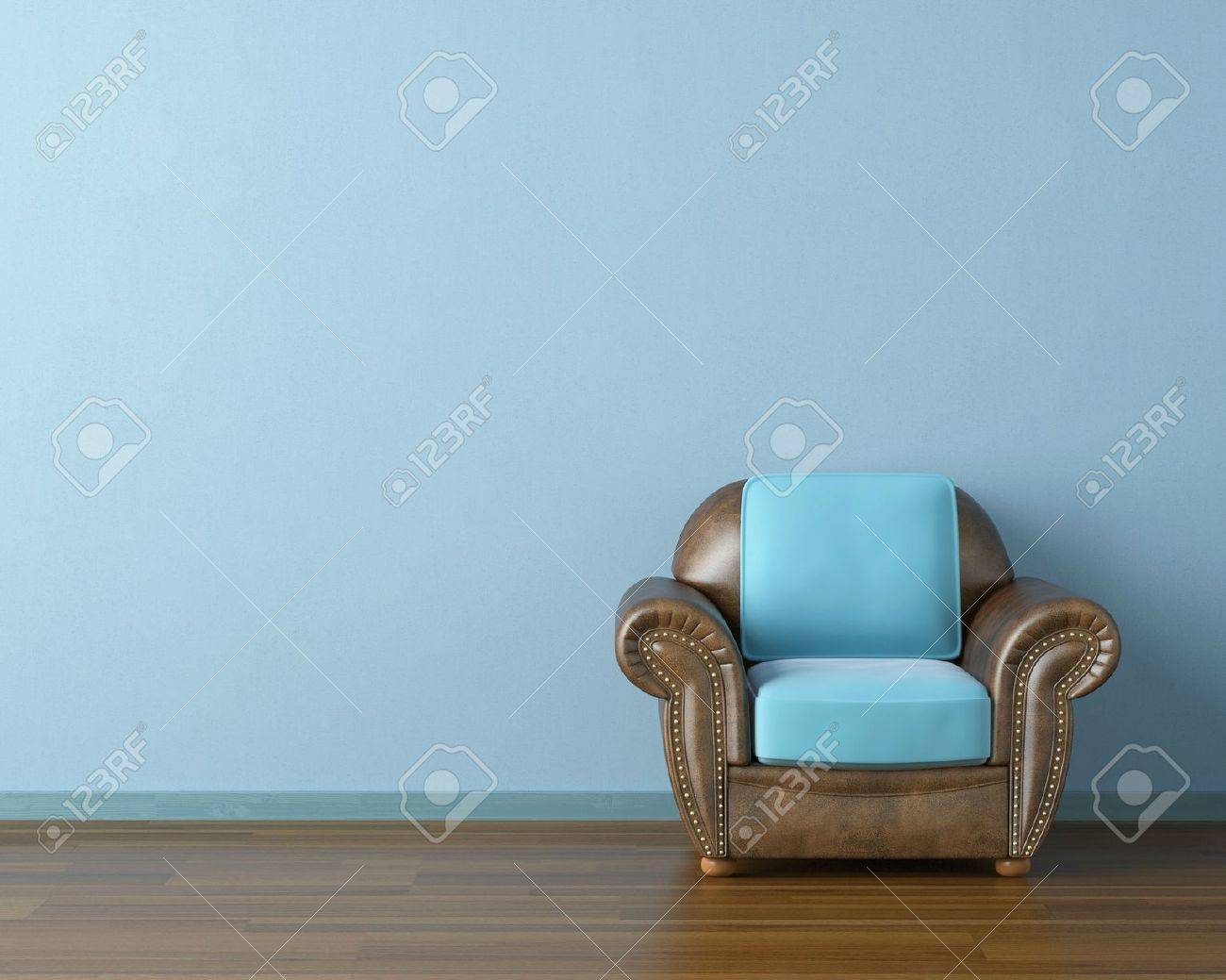 Picture of: Interior Design Scene With A Modern Brown Leather Couch And Lamp Stock Photo Picture And Royalty Free Image Image 7782667