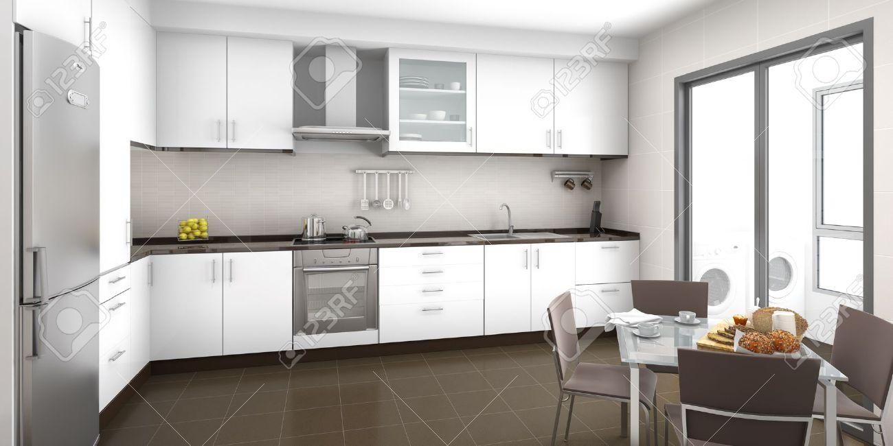 Cucina Colore Marrone : Cucina marrone colore pareti. Colore ...