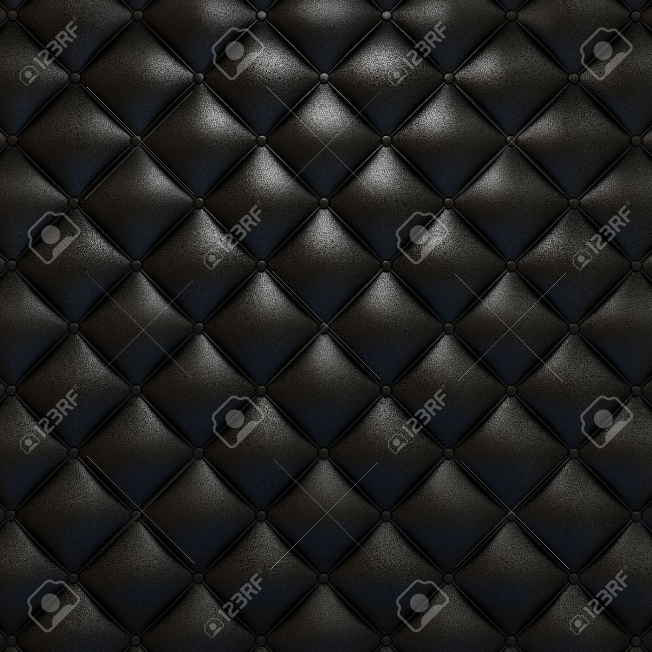 Black leather upholstery texture with grat detail for background,