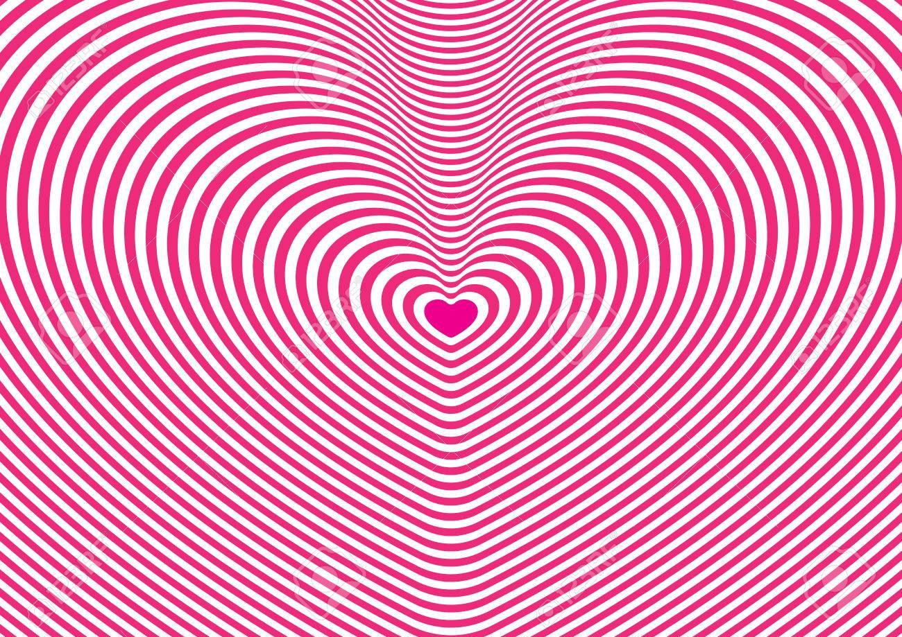 ピンクと白のハート トンネル壁紙のイラスト素材 ベクタ Image