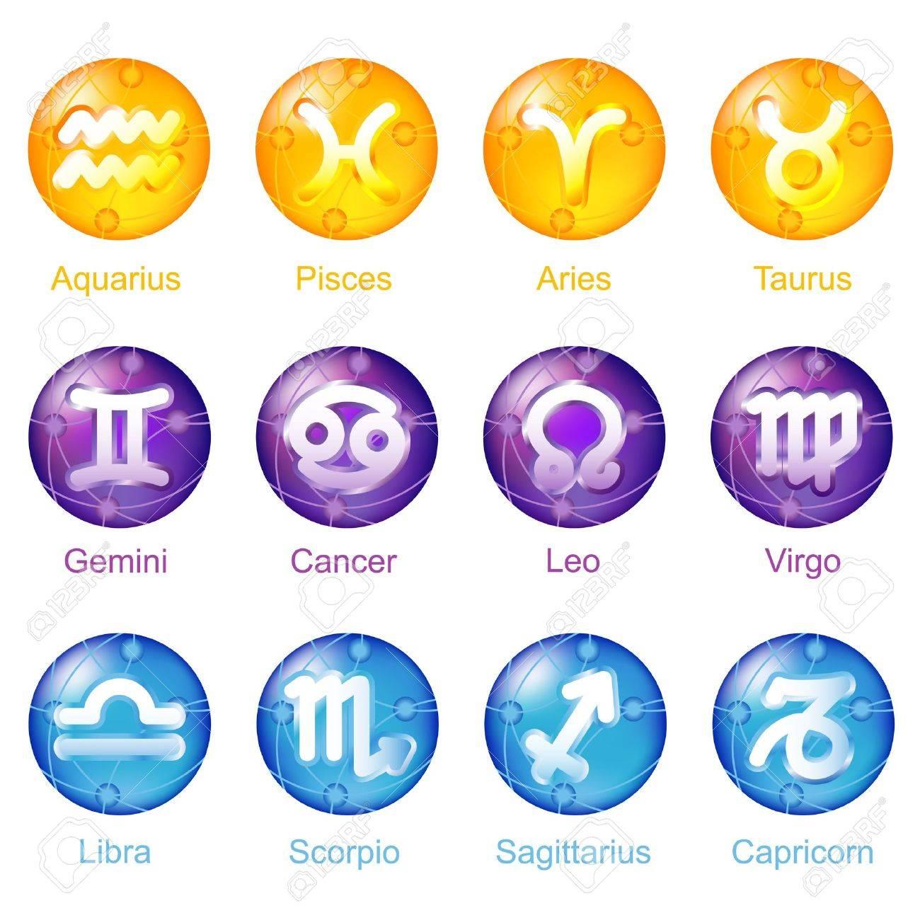Zodiac Icons Stock Photo - 6455824