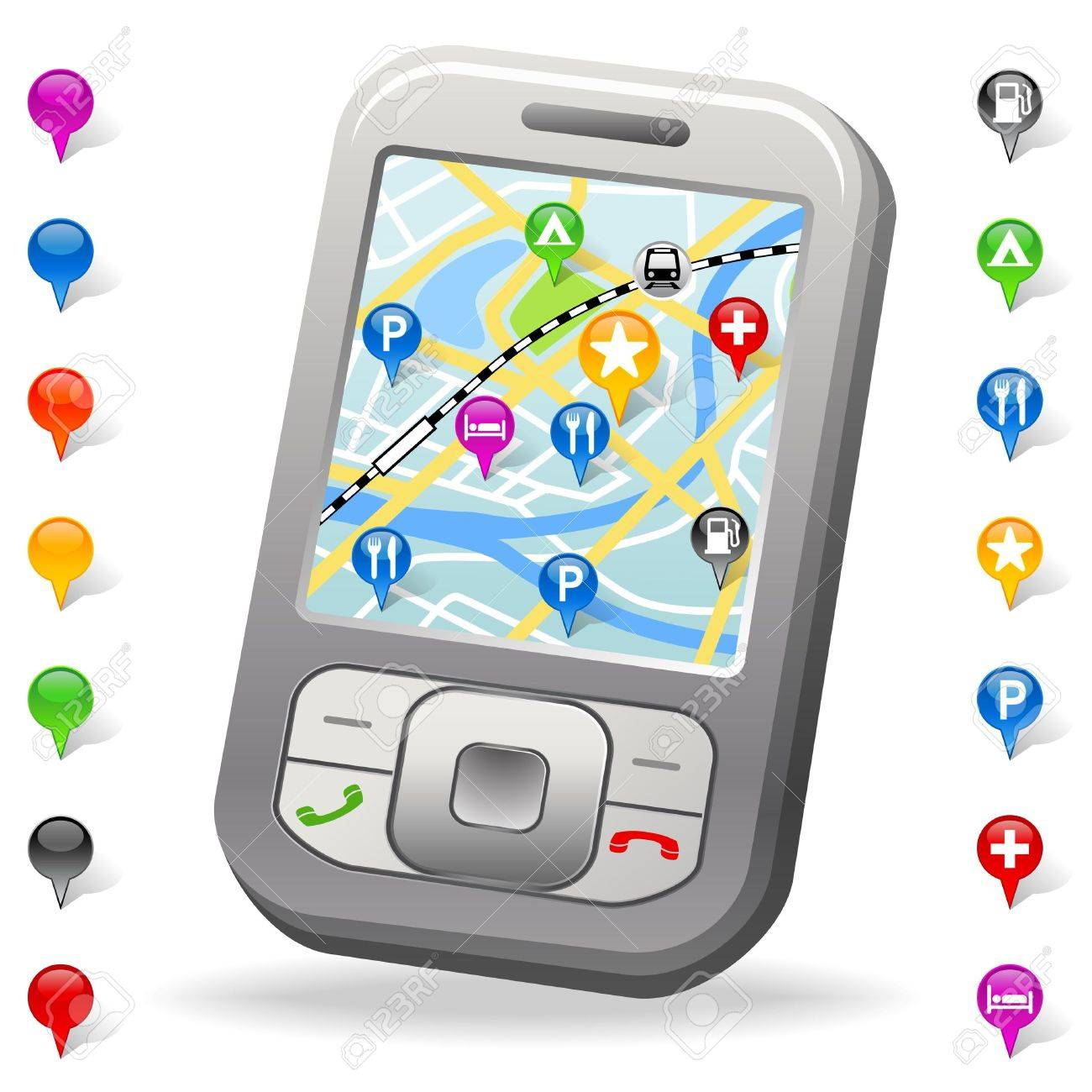 City Map on cell phone Stock Photo - 7858075