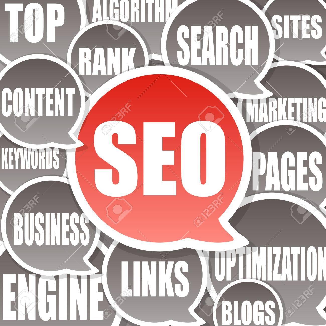 SEO Background - Search engine optimization Stock Photo - 9449569