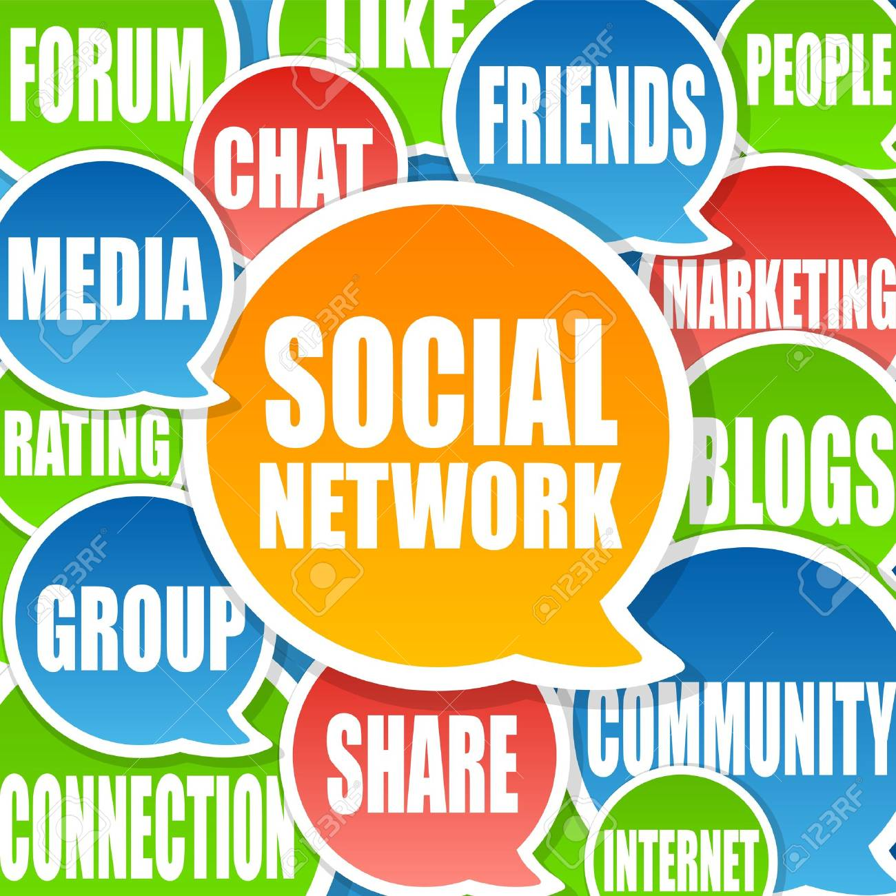 Social Network Background Stock Photo - 9449570