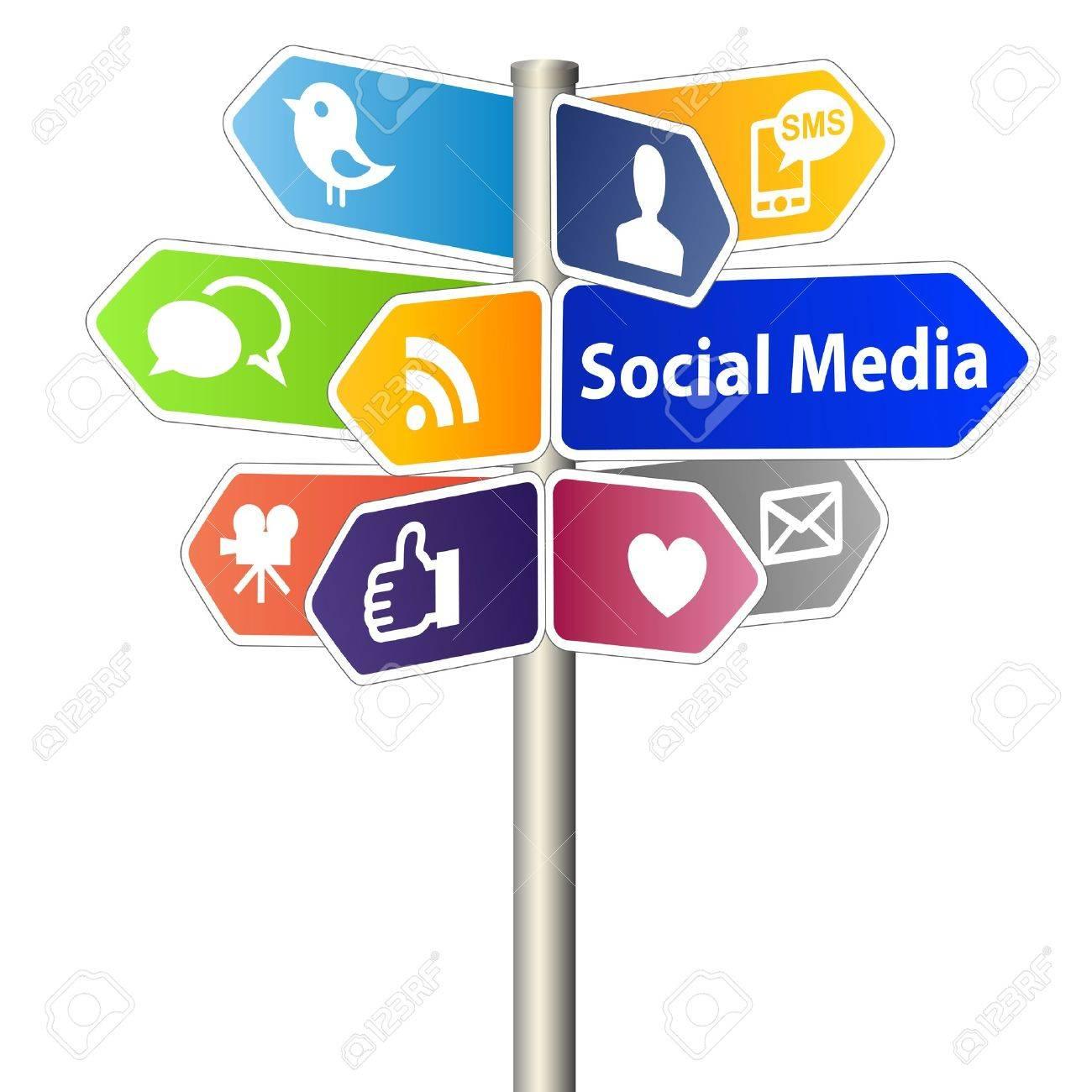 Social Media Sign Stock Photo - 11838001