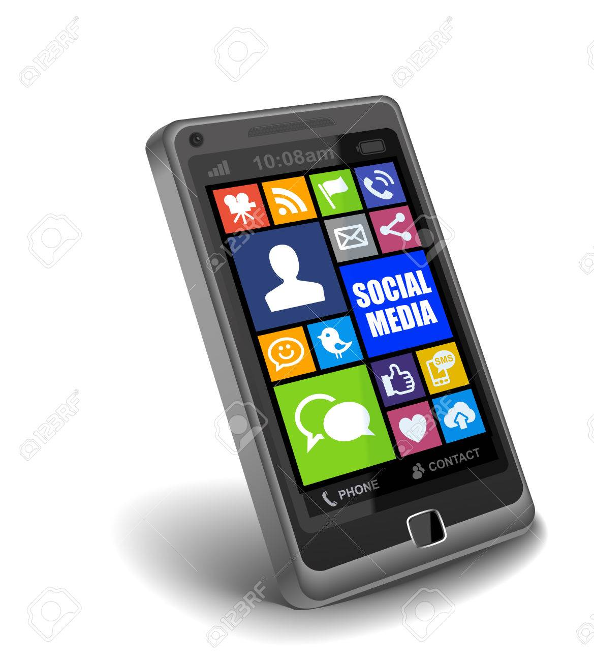 Social Media Apps on Smartphone Stock Photo - 26062774