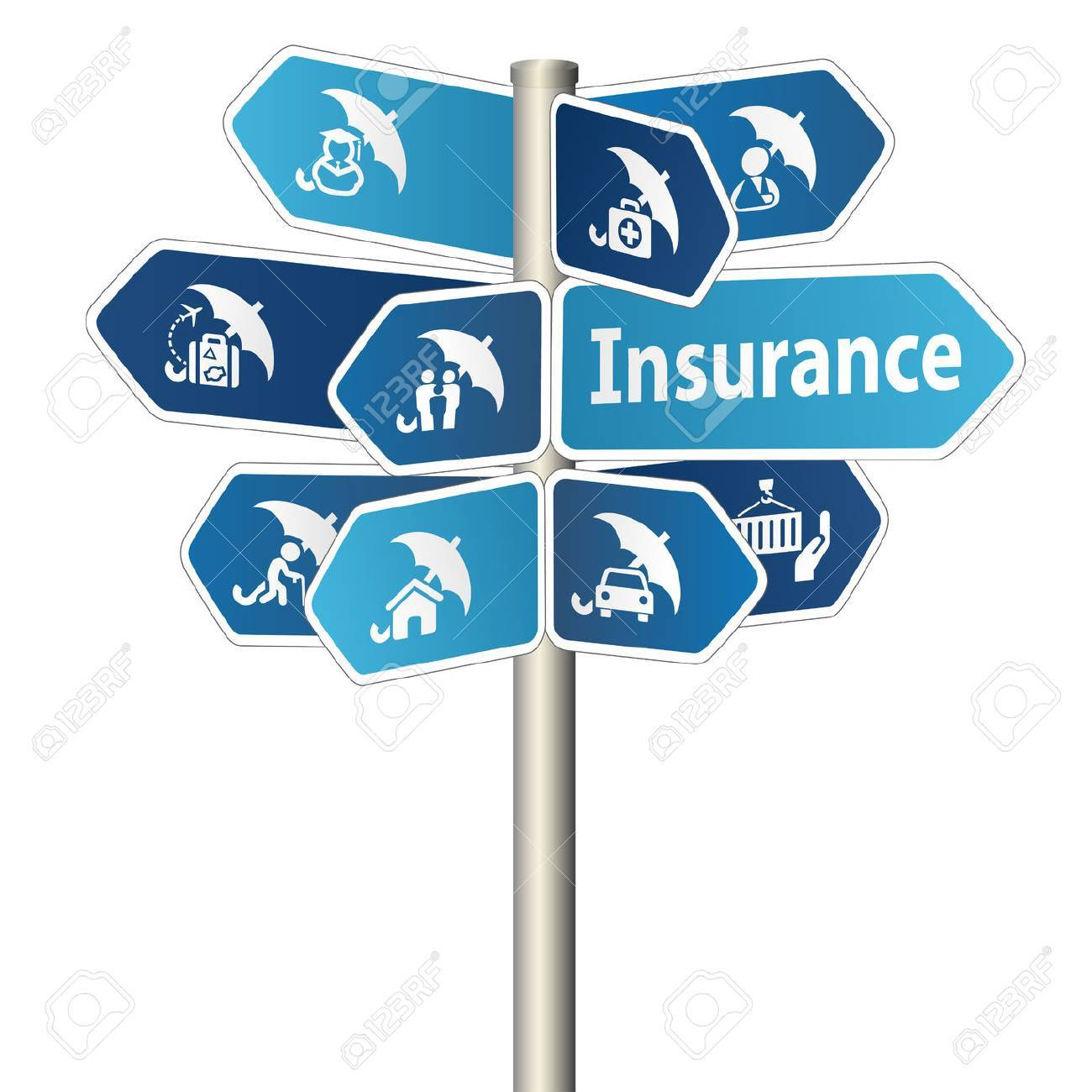 Insurance Sign Stock Photo - 41299320