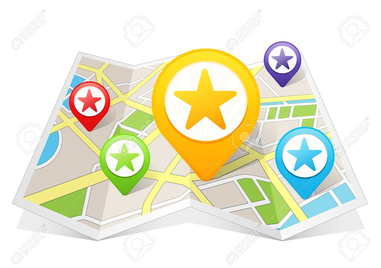 Star Rating My Favorite Map Pointer Location Destination On Map - Star map from my location