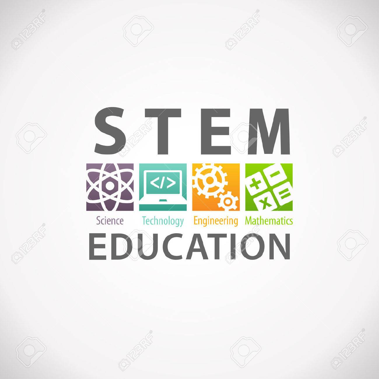 Stem Education Concept Logo Science Technology Engineering Mathematics Stock Photo Picture And Royalty Free Image Image 66088148