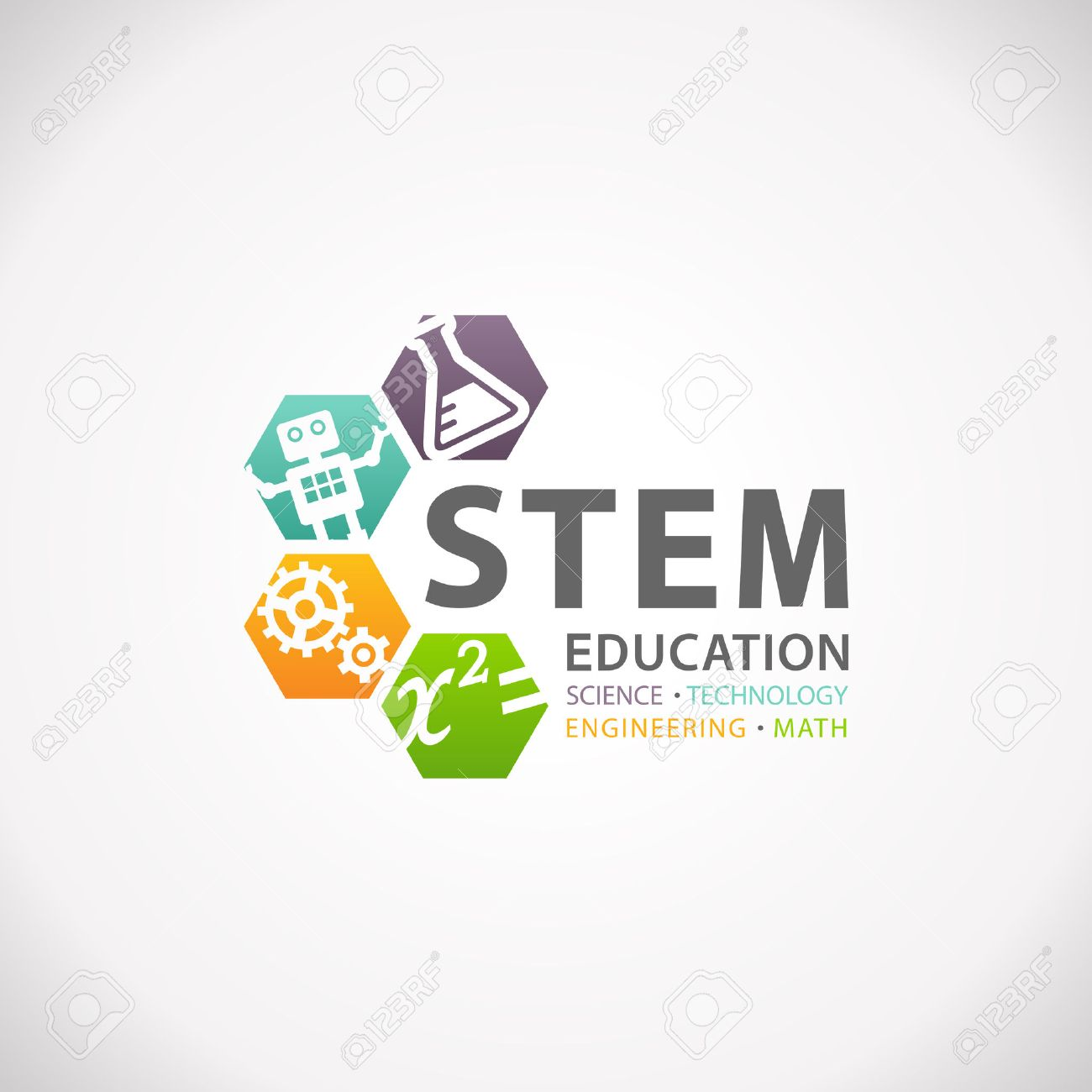 Stem Education Concept Logo Science Technology Engineering Mathematics Stock Photo Picture And Royalty Free Image Image 66088151