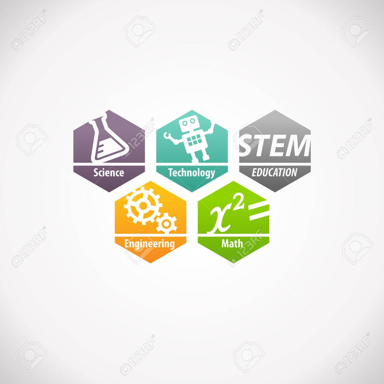 Stem Education Concept Logo Science Technology Engineering Mathematics Stock Photo Picture And Royalty Free Image Image 78258986