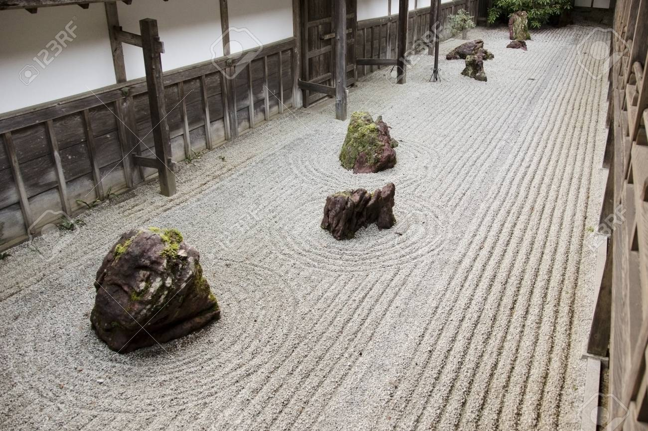 Traditional japanese stone garden in the kongobuji temple at stock stock photo traditional japanese stone garden in the kongobuji temple at koya san japan world heritage site workwithnaturefo