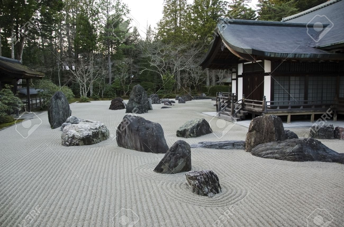 Japanese Garden Stones Traditional japanese stone garden in the kongobuji temple at stock stock photo traditional japanese stone garden in the kongobuji temple at koya san japan world heritage site workwithnaturefo
