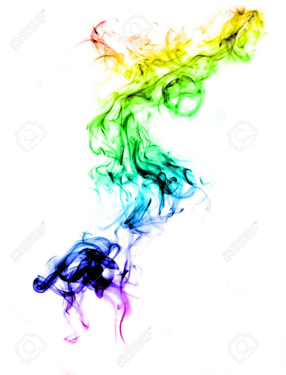 Colorful smoke abstract over white background Stock Photo - 5027716