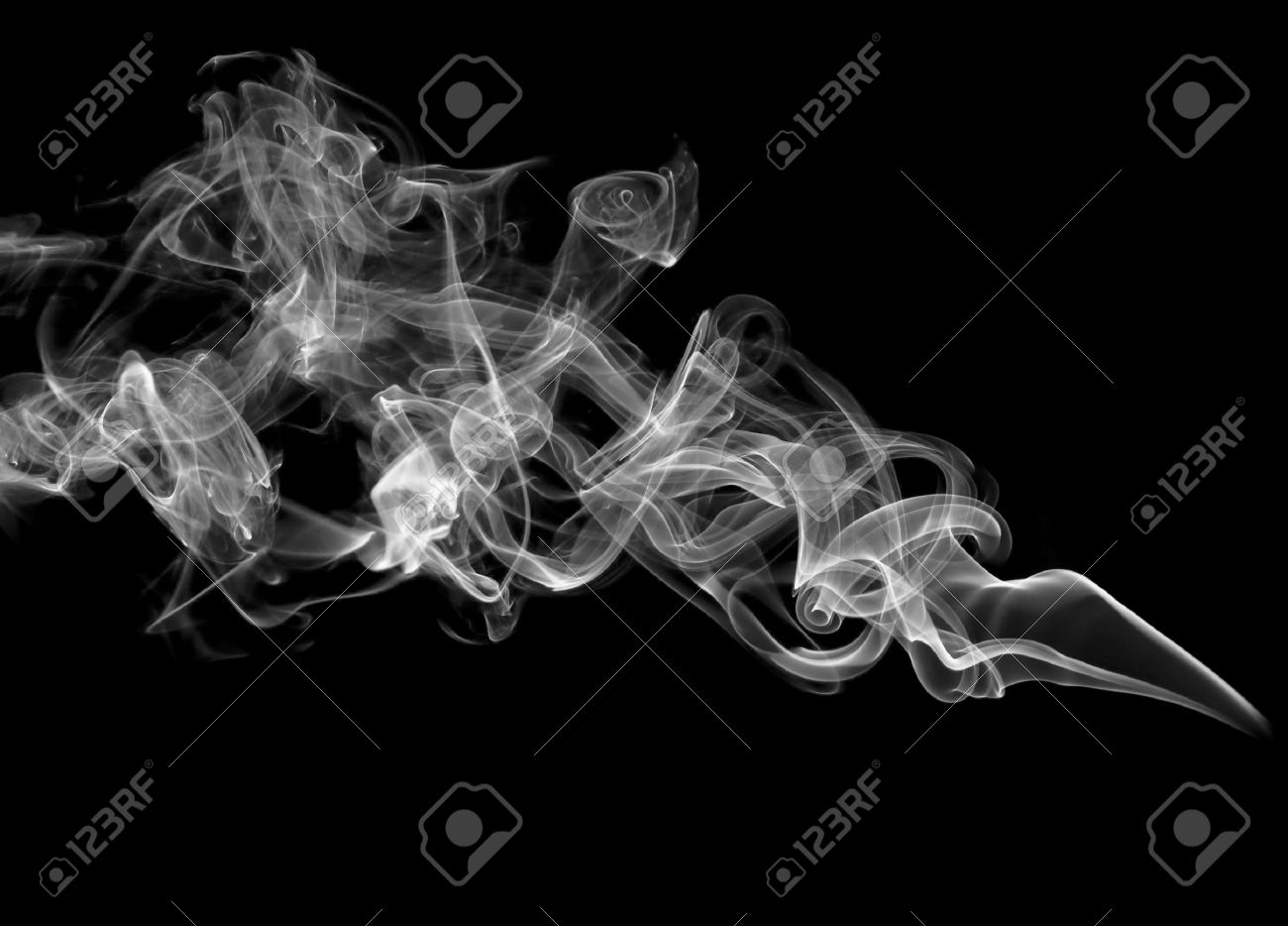 Black Smoky Background Over Black Background
