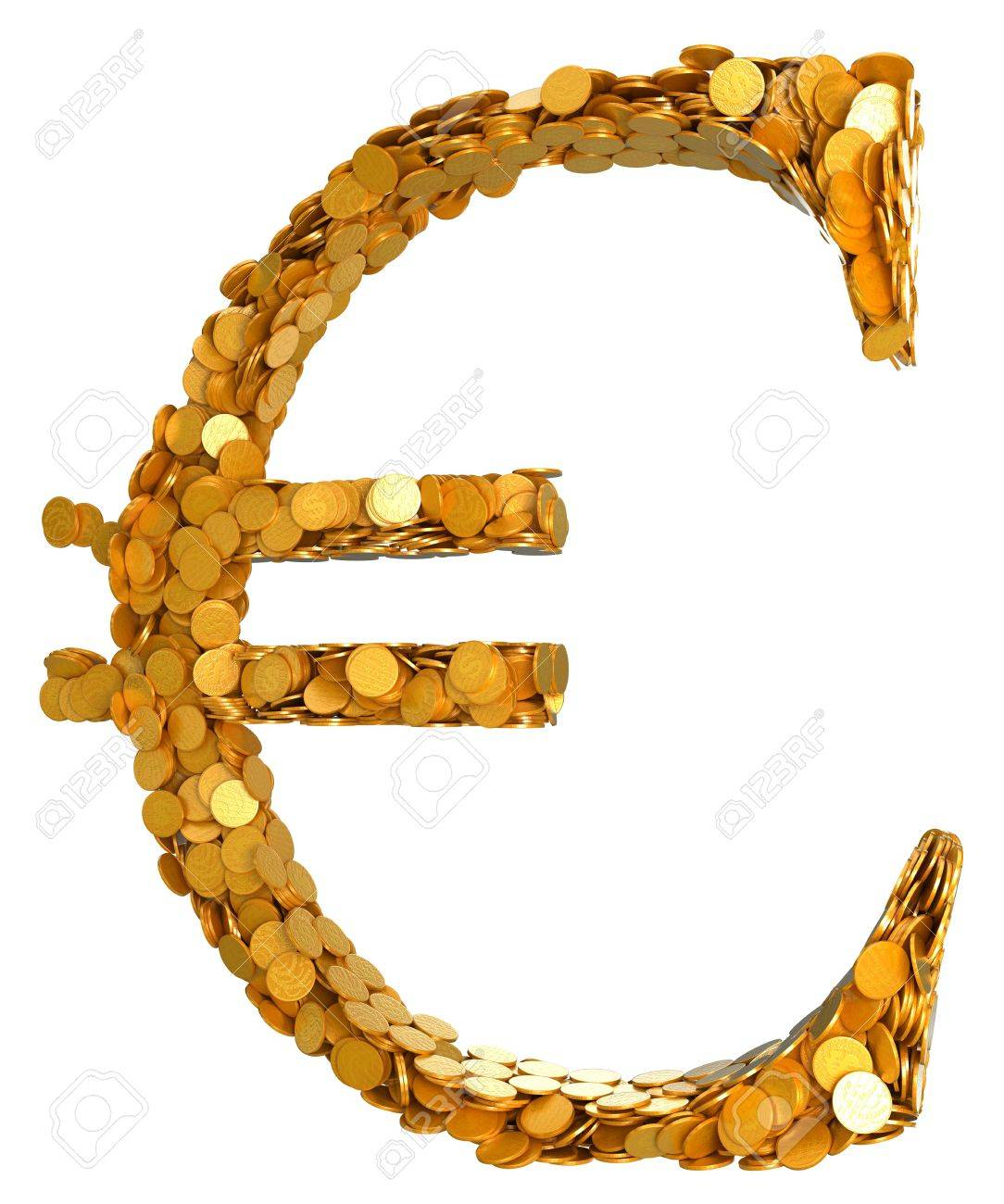 Euro currency and cash symbol assembled with coins isolated euro currency and cash symbol assembled with coins isolated on white other symbols buycottarizona