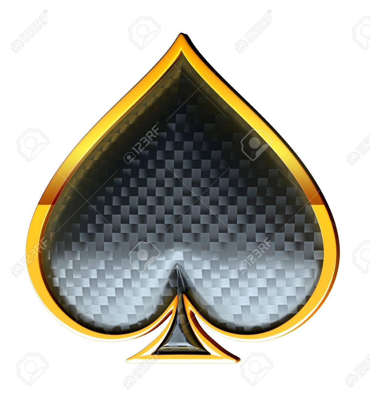 Spades Textured Card Suits