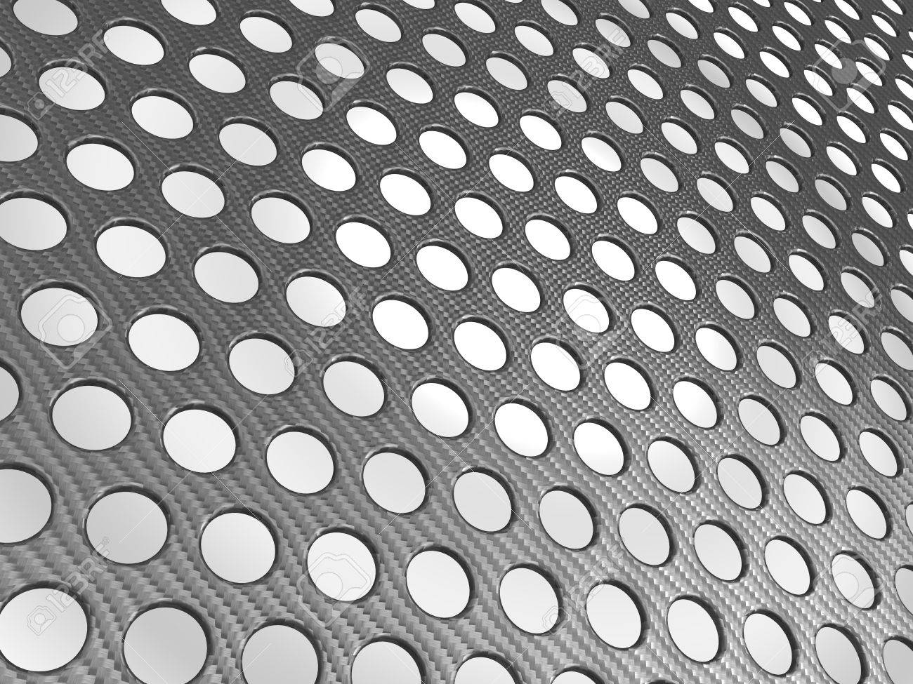 Carbon fibre surface perforated over studio light background Stock Photo - 9458641