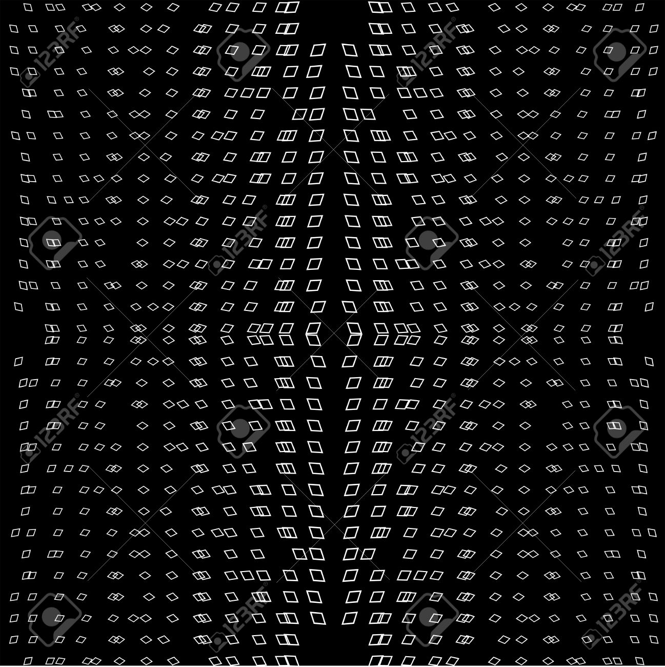 Geometric Pattern Black And White Modern Texture Abstract Geometric