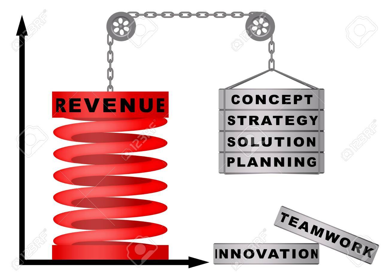Company revenue growth concept Stock Photo - 13110070