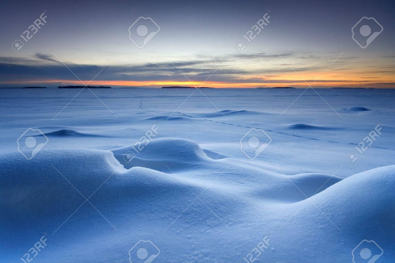 Snowy seascape Stock Photo - 8898525