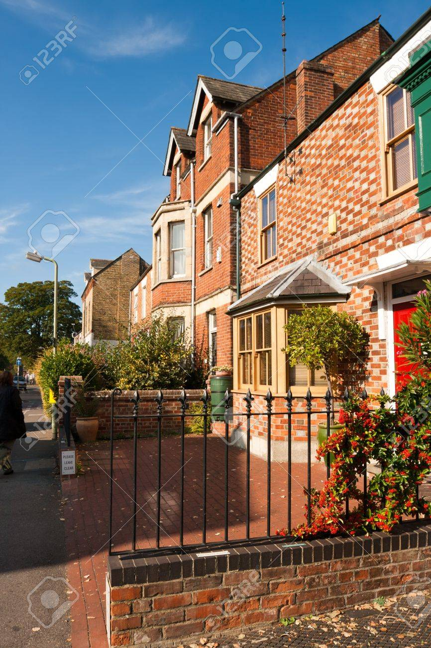 Typical english houses in Oxford. England Stock Photo - 7902840