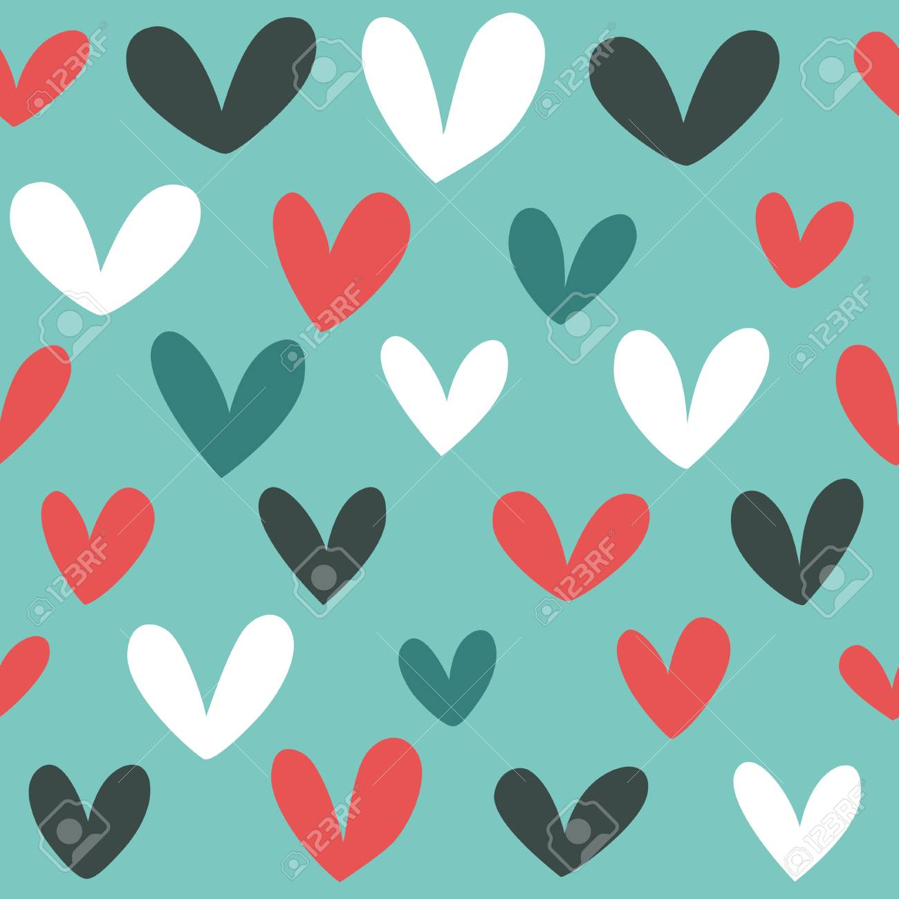 seamless heart background in pretty colors great for baby