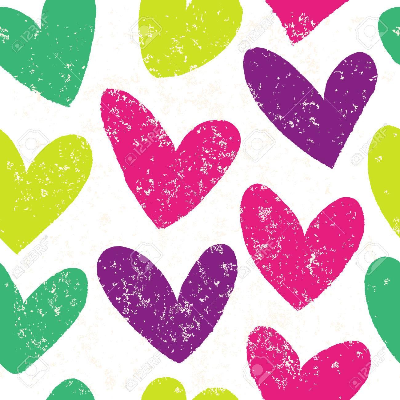 Fondo De Corazón Transparente En Colores Bonitos. Grande Para El ...