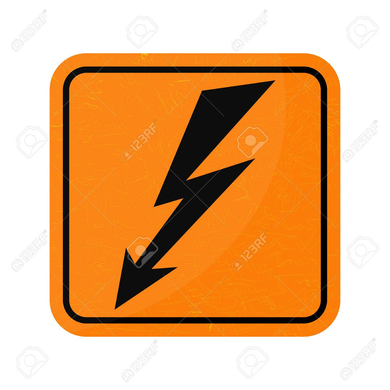 Vector Icon Sign Of Danger High Voltage Symbol Isolated On White