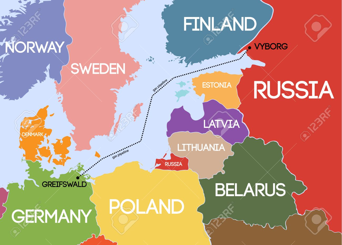 Resultado de imagen de gasoducto del báltico