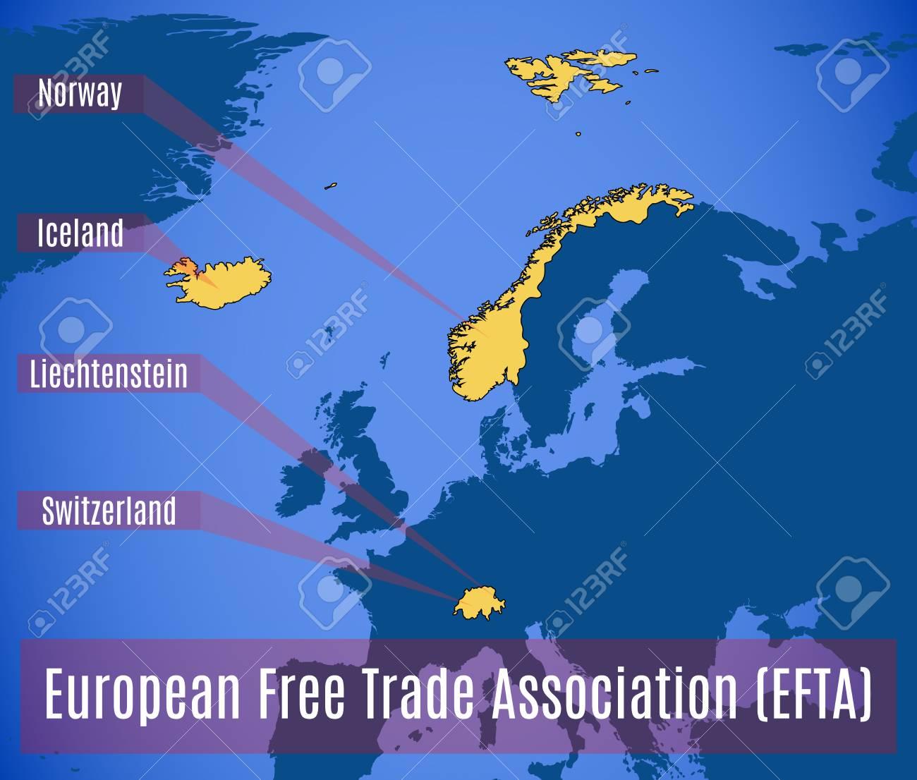 欧州自由貿易連合 (EFTA) の略地...