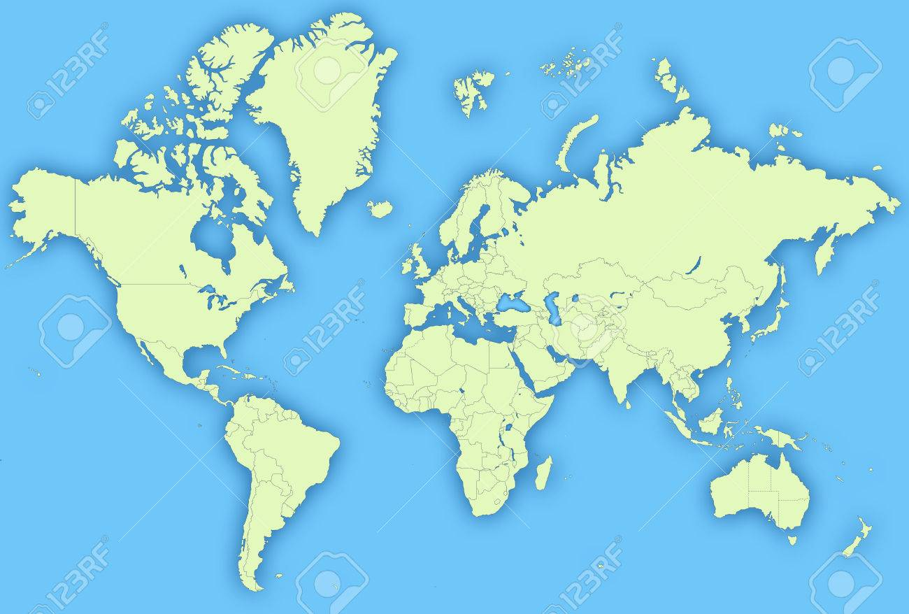 High Quality Detailed World Map Stock Photo, Picture And Royalty ...