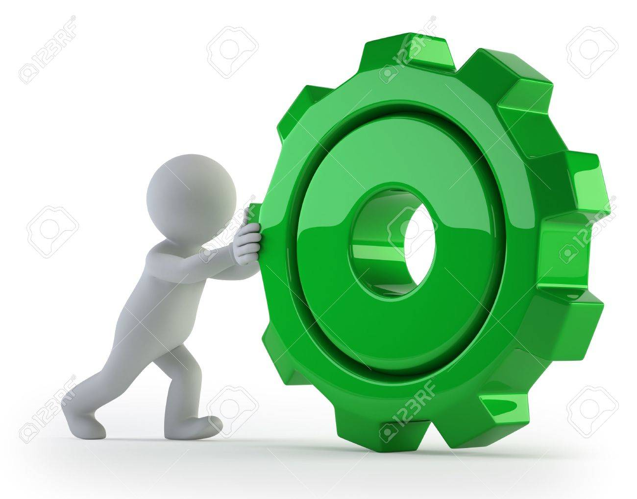 3d small people - rolls gear Stock Photo - 17423126