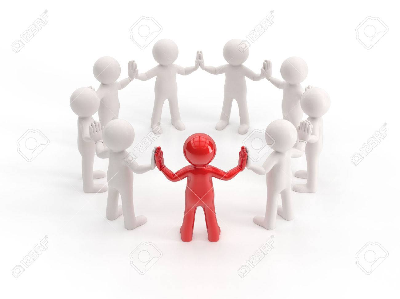 3d small people - leader - 51352835