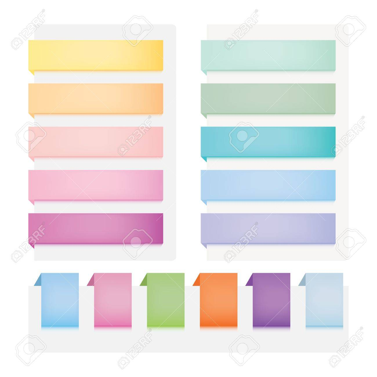 web buttons. Set of multicolored elements Stock Vector - 10698617