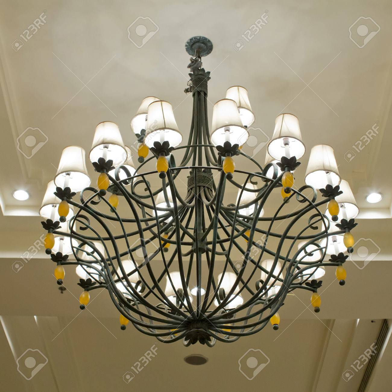 Vintage Art Deco Ceiling Lamp Stock Photo Picture And Royalty Free Image Image 23958745