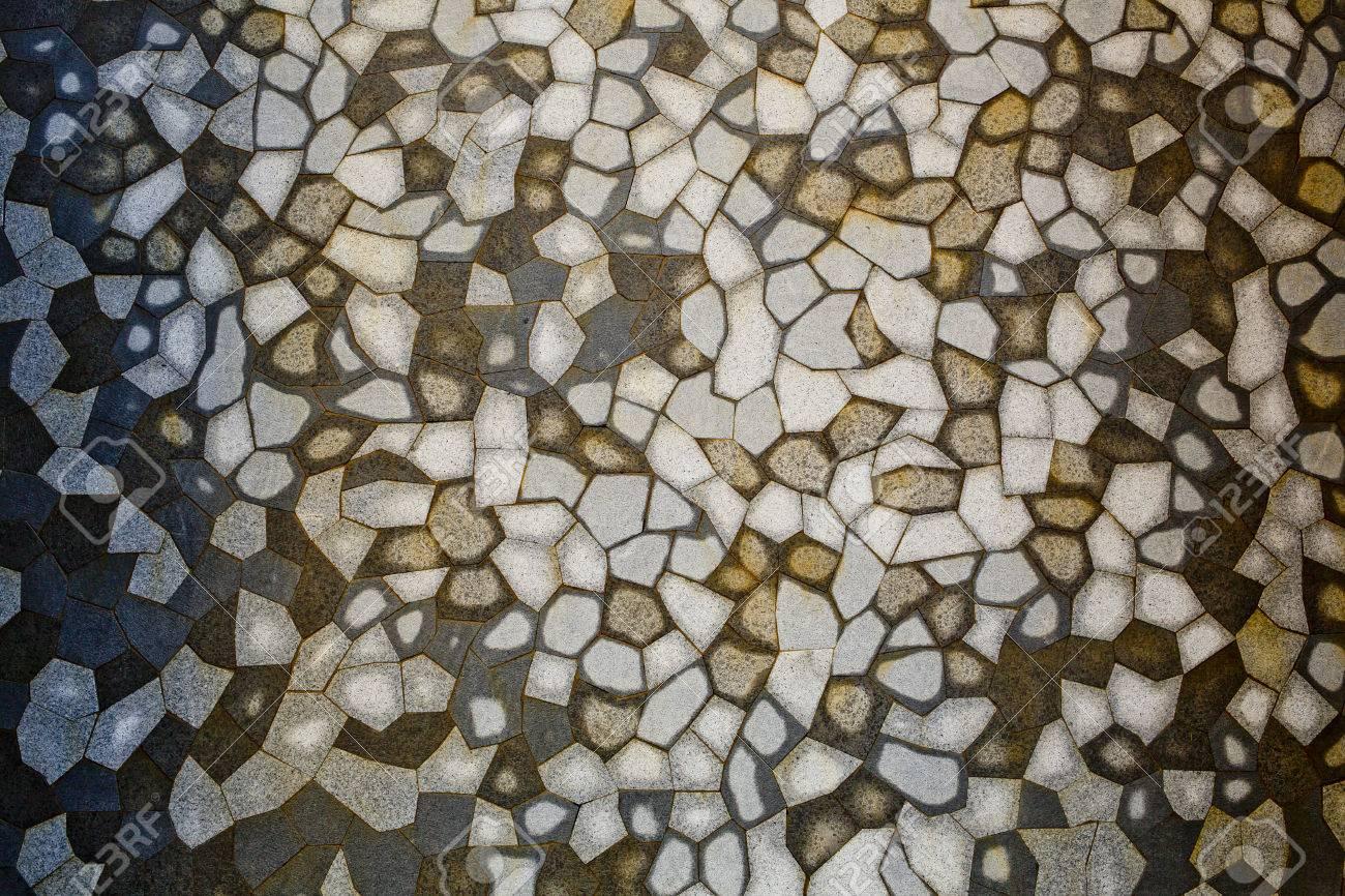 Braun Weiss Grauen Fliesen Mosaik Hintergrund Lizenzfreie Fotos
