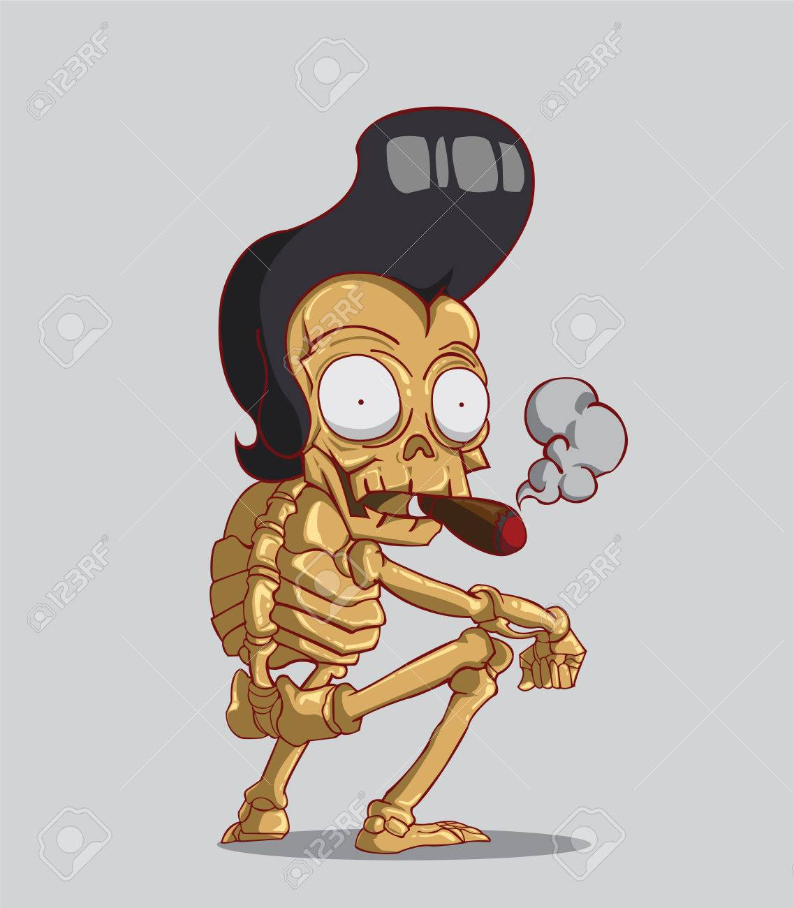 Death is a skeleton  Happy Halloween Stock Vector - 23119761