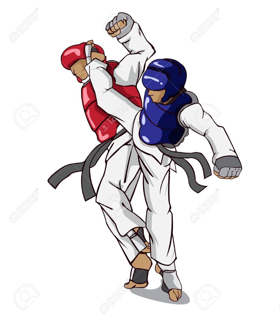Taekwondo Martial Art Royalty Free Cliparts Vectors And Stock Illustration Image 47708538