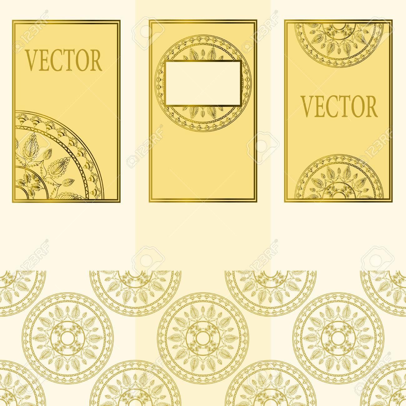 Vector Conjunto De Elementos De Diseño, Etiquetas Y Marcos Para El ...