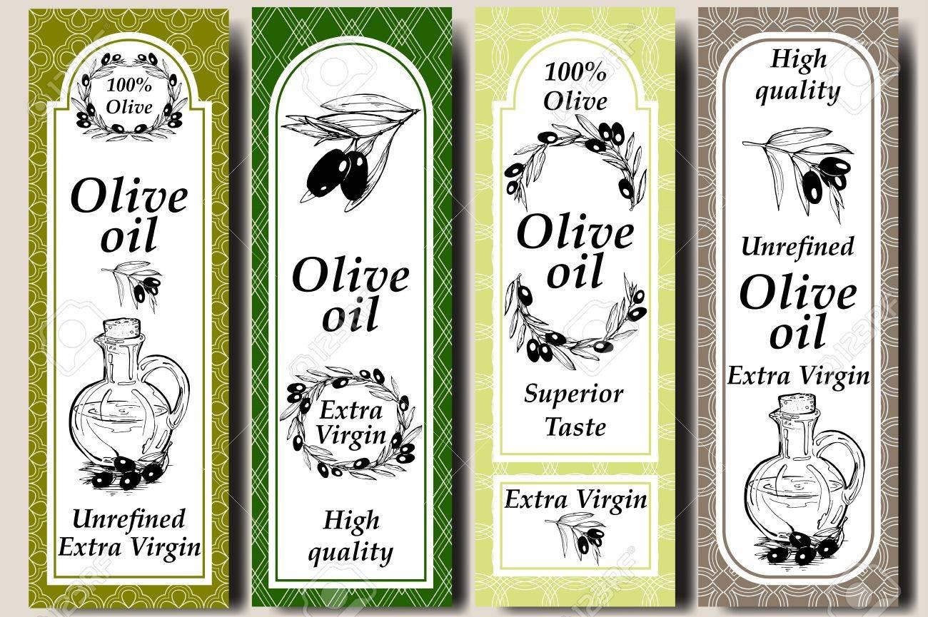 Vector Verpackungs-Design-Elemente Und Vorlagen Für Olivenöl ...