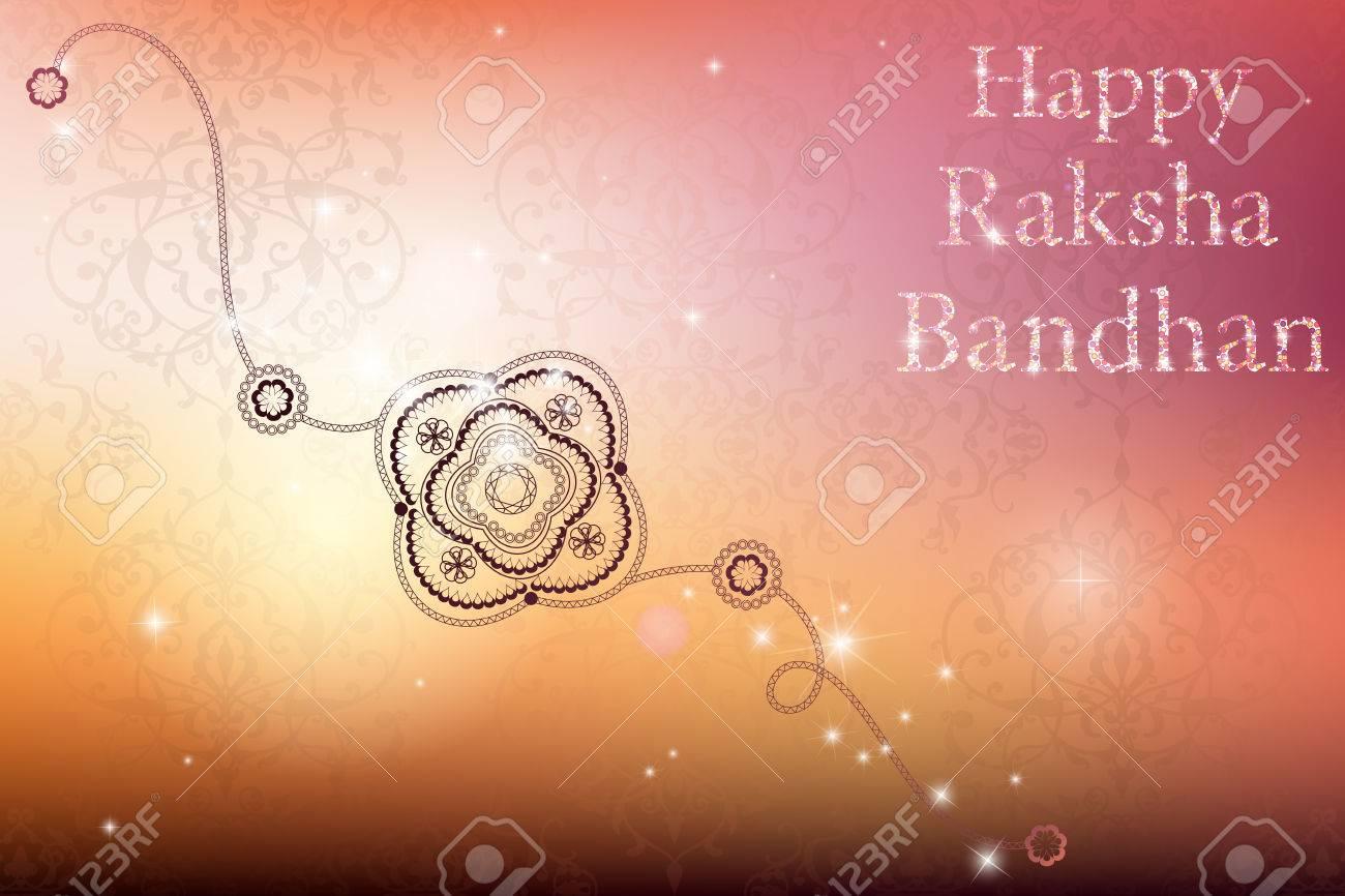 Belle Rakhi Créative Sur Fond Brillant Pour Le Festival Indien Du Frère Et Lamour De Soeur Bonne Fête Raksha Bandhan