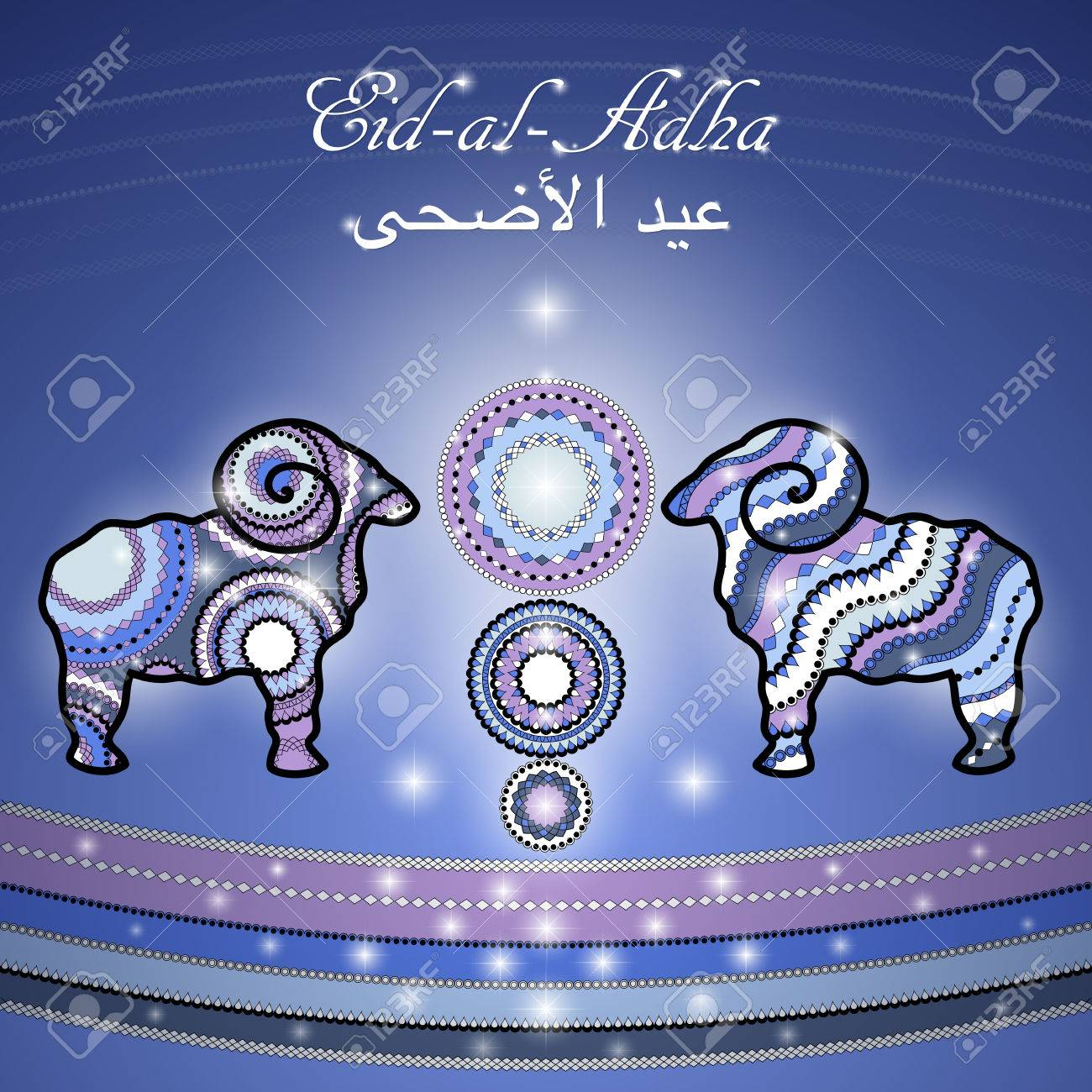 Greeting card template for muslim community festival of sacrifice greeting card template for muslim community festival of sacrifice eid al adha with sheep kristyandbryce Images